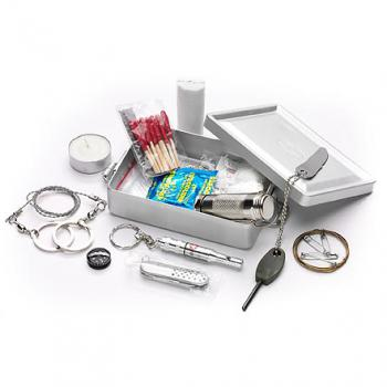 Mil-Tec Survival Kit Aluminium Box