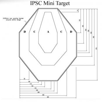Мишена за IPSC и IDPA, 37.5x30 cm